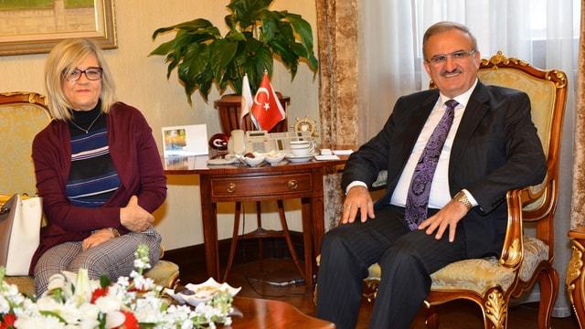 Portekiz'in Ankara Büyükelçisi Silva Antalya'da