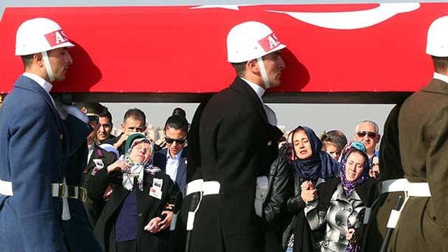 Şehit Üsteğmen Zafer Er Ankarada son yolculuğuna uğurlandı