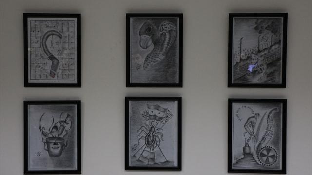 Suriyeli sığınmacının çizimleri Makedonya'da sergilendi