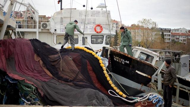 Tekirdağ'da balık avına poyraz engeli