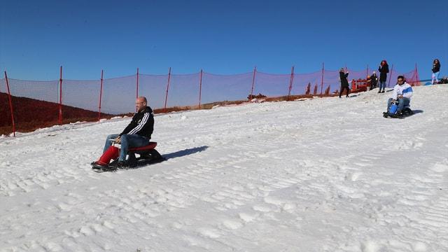 Uludağ'a suni kar desteği