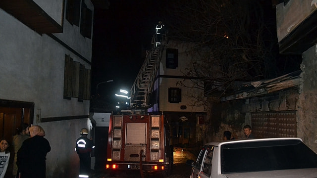 Karabük'te tarihi konakta yangın
