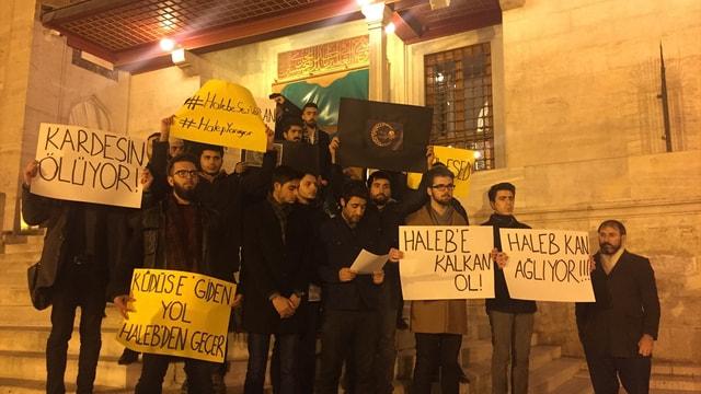 Nesl-i Hareket Platformu, Halep'teki saldırıları protesto etti