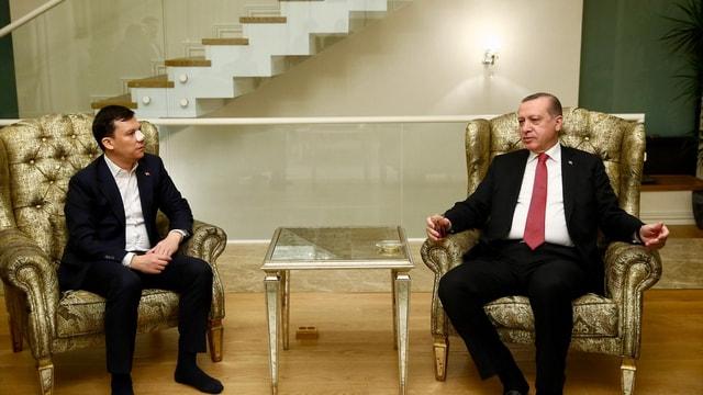 Cumhurbaşkanı Erdoğan'dan Şahin'e geçmiş olsun ziyareti