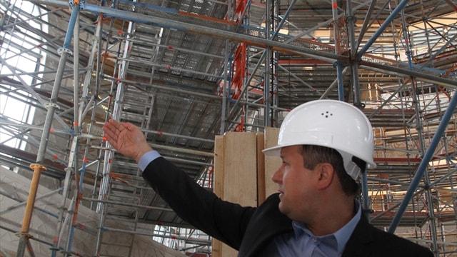 DİTİB'in Köln'de yaptırdığı caminin iç yapısı tamamlandı