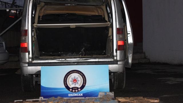 Erzincan'da 52 kilogram eroin ele geçirildi