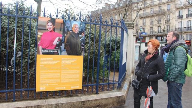 Paris'te Ben bir göçmenim fotoğraf sergisi
