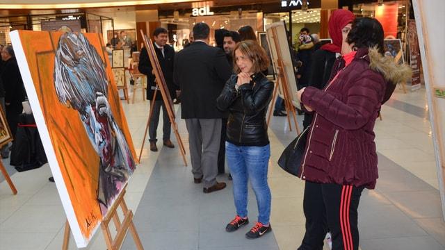 Sanat Halep için Buluştu sergisi