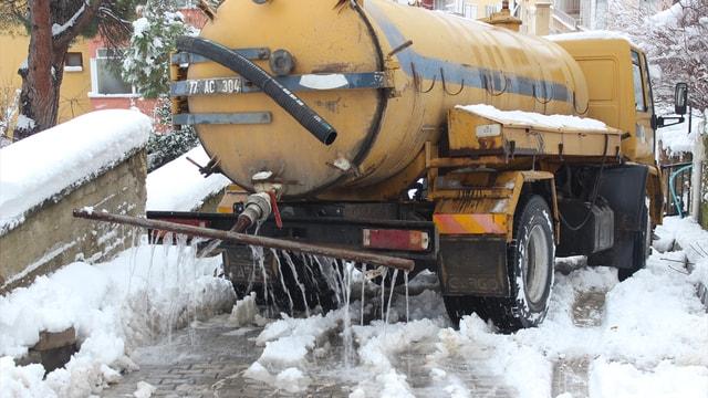 Yalova'da buzlanmaya karşı deniz suyu formülü