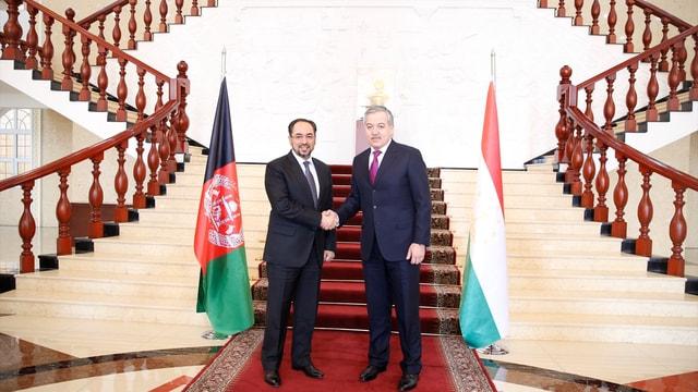 Afganistan Dışişleri Bakanı Rabbani Tacikistan'da