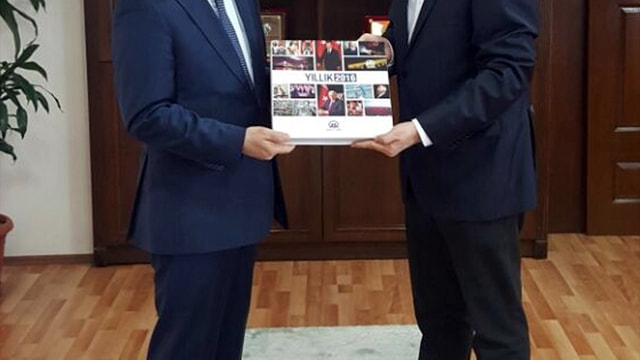 Trabzon Emniyet Müdürü Arıkan'a AA 2016 Yıllığı