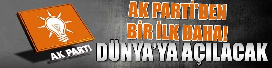 AK Partiden bir ilk daha!