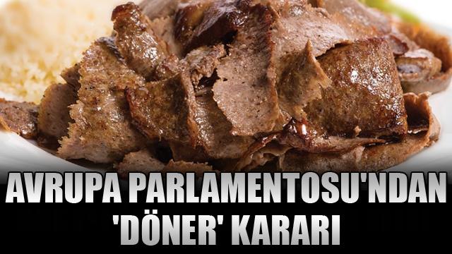 Avrupa Parlamentosundan döner kararı