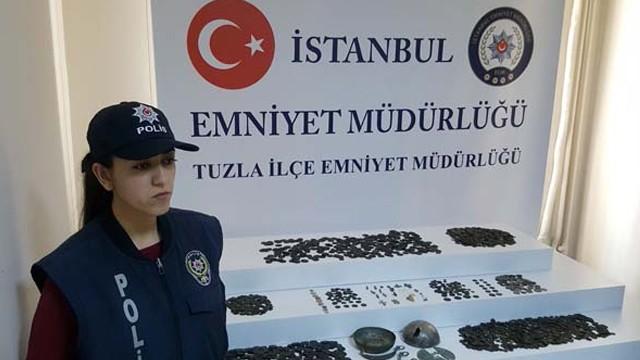 İstanbul'da bin yıllık tarihi eserler ele geçirildi