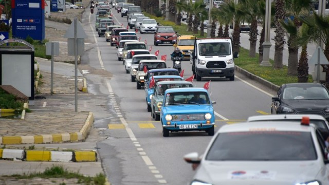 Hacı Murat arabaları Bodrumda biraraya geldi