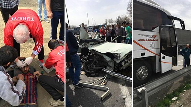 Güreş Milli Takımı İranda kaza geçirdi