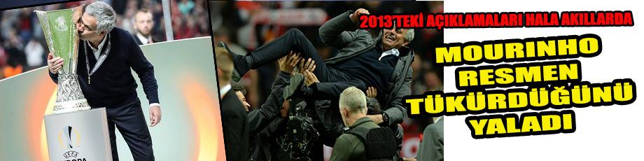 Mourinho tükürdüğünü yaladı!