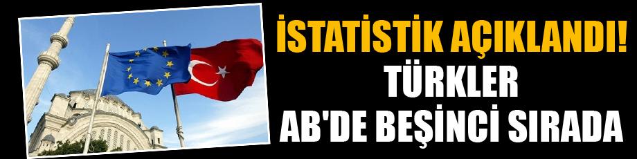 İstatistik açıklandı! Türkler ABde beşinci sırada