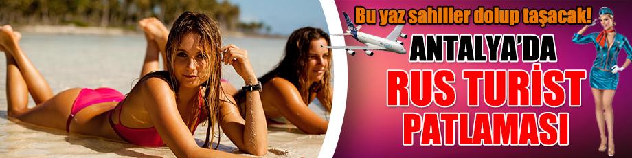 Antalyaya Rus turist akını!